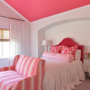 Headboard Niche, Transitional, Girl's Room, Munger Interiors