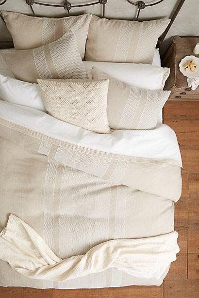 Belgian Linen Provence Stripe Bedding Restoration Hardware