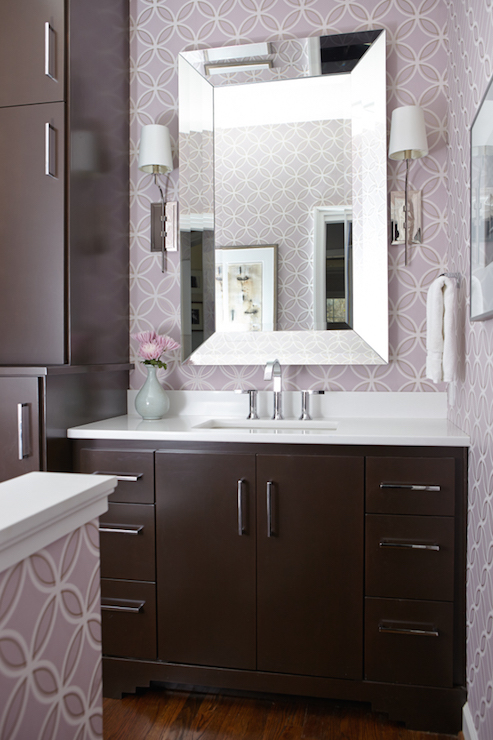 Silver And Brown Bathroom Color Scheme Transitional