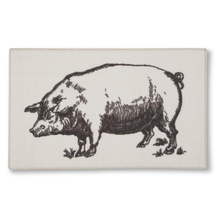 Pig Kitchen Rug