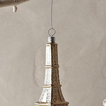 Glass Eiffel Tower Ornament I Anthropologie