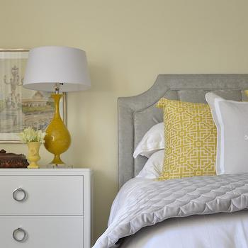 Yellow and Gray Bedroom Design, Transitional, Bedroom, Meredith Heron Design