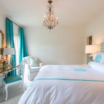 turquoise bedrooms. Turquoise Drapes Design Ideas