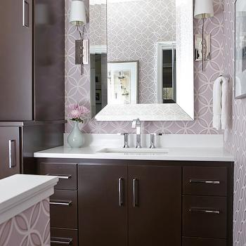 Chocolate Brown Washstand, Contemporary, Bathroom, Beth Haley Design