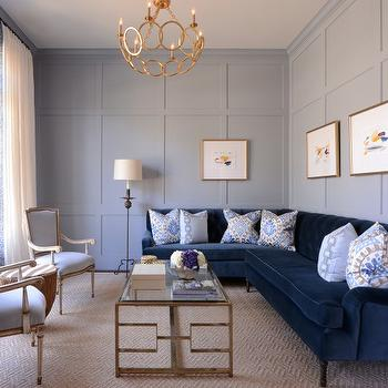 Navy Blue Interior Design Idea Navy Blue Living Room Chairs