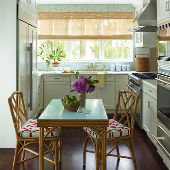 Kitchen with Blue Accents, Cottage, Kitchen, Ashley Whittaker Design