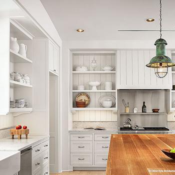 Kitchen Hood with Beadboard Trim, Cottage, Kitchen, Dillon Kyle Architecture