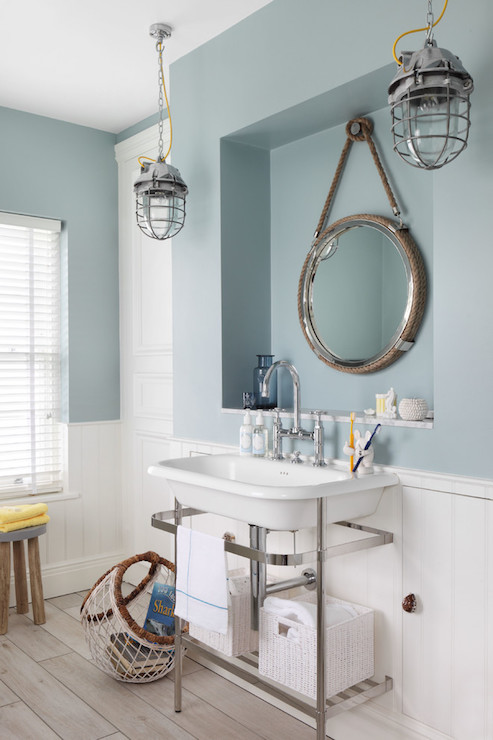 Nautical style bathrooms cottage bathroom zoffany for Bathroom ideas nautical
