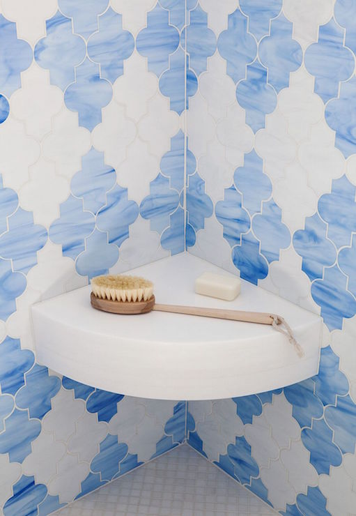 Blue Moroccan Tiles Contemporary Bathroom Palmer Weiss
