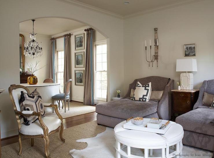 Pull Apart Ottoman Transitional Living Room Dana