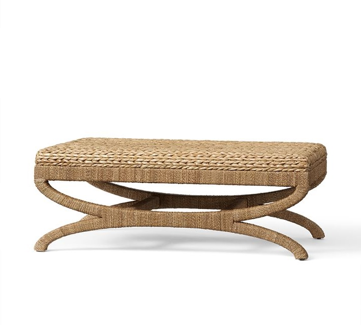 Pottery Barn Seagrass Coffee Table Ottoman View Full Size