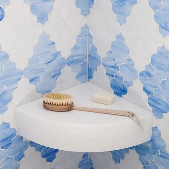 Blue Moroccan Tiles, Contemporary, Bathroom, Palmer Weiss