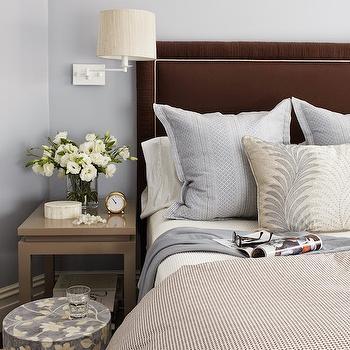 Blue and Brown Bedroom Design, Transitional, Bedroom, Massucco Warner Miller