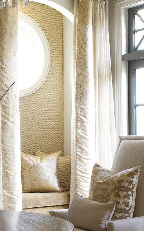 Reading Nook With Curtains Transitional Living Room Dana