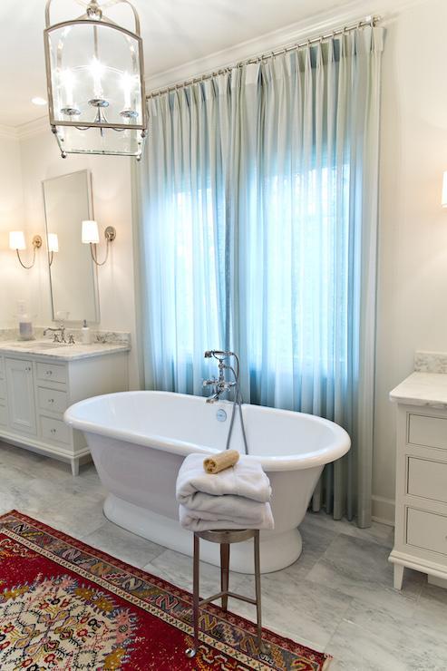 Bathtub Between Vanities - Transitional - Bathroom - Dana Wolter ...