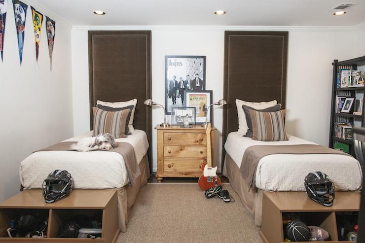 Vintage Dark Wood Bed Frame