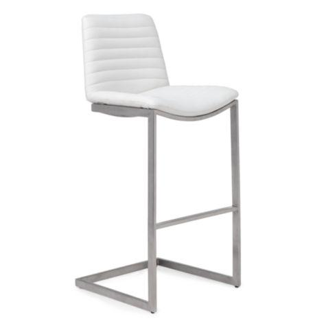 Christopher Knight Home Markson White Leather Barstool