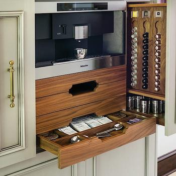 Built In Coffee Station, Transitional, Kitchen, Atlanta Homes & Lifestyles