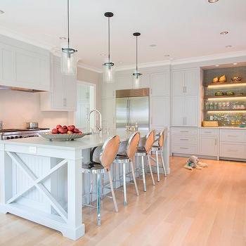 X Kitchen Island, Transitional, Kitchen, Sroka Design