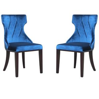 Regis Velvet Dining Chairs (Set of 2), Overstock.com