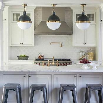 Kitchen Island With Columns oval kitchen island design ideas