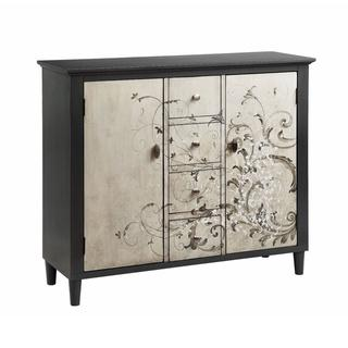 Charmant Graham Black And Silver Accent Cabinet