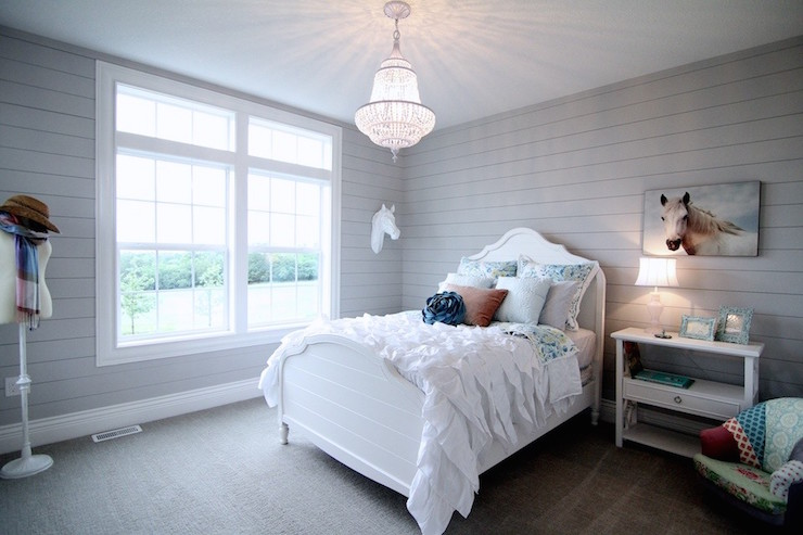 White And Gray Kids Bedroom