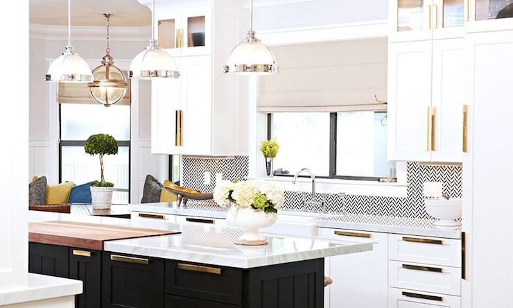 Shiny Brass Kitchen Cabinet Hardware Design Ideas