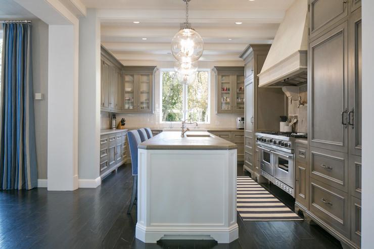 Wagner Design taupe kitchen cabinets - transitional - kitchen - brooke wagner design