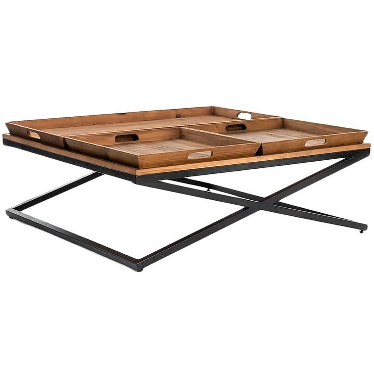 Square Coffee Table Vs Round: Durham Brown Round Coffee Table