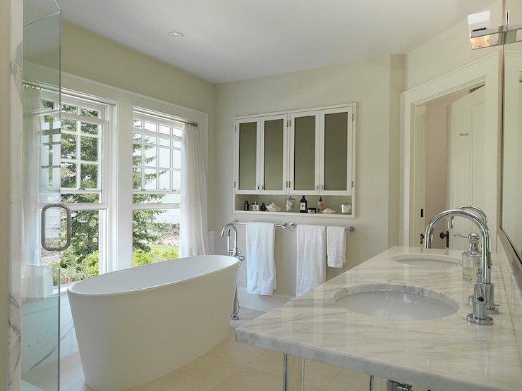 Cream Paint Colors Transitional Bathroom Benjamin