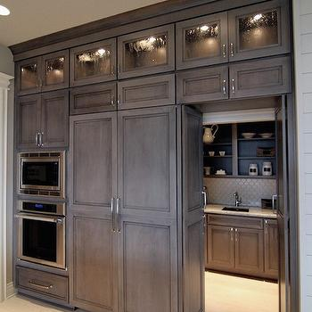 Hidden refrigerator design ideas for Hidden pantry doors