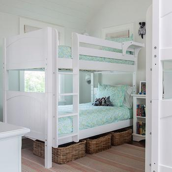 Kids Room with 2 Bunk Beds, Cottage, Girl's Room, Duffy Design Group