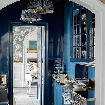 Blue Butlers Pantry, Transitional, Kitchen, House Beautiful