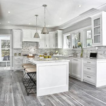 Gray Kitchen Floors, Transitional, Kitchen, Vita Design Group