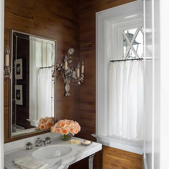 Fake Wood Wallpaper, Country, Bathroom, House Beautiful
