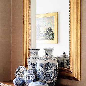 Gold Beaded Mirror, Transitional, Entrance/foyer, Zhush