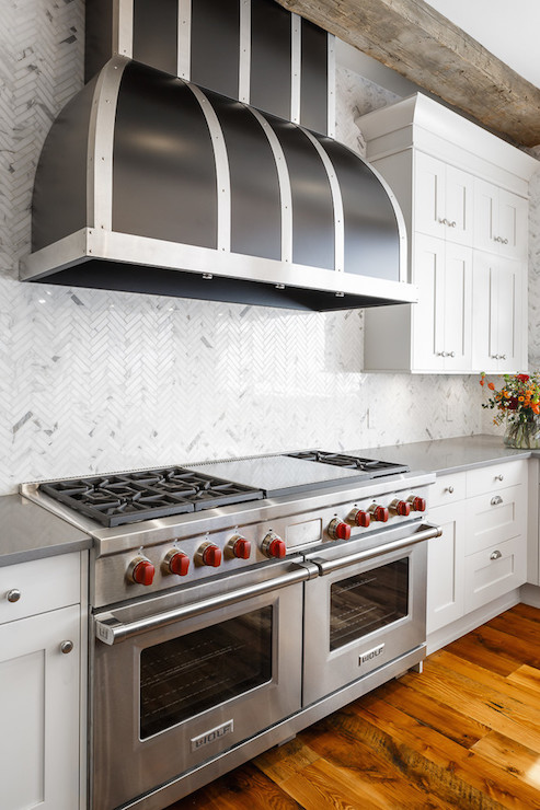 herringbone kitchen hood design ideas