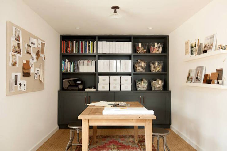 black built in bookcase view full size - Bookshelves And Desk Built In
