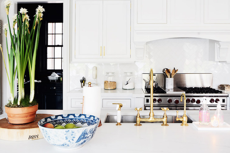 White Kitchen Sink Faucet brass gooseneck kitchen faucet design ideas