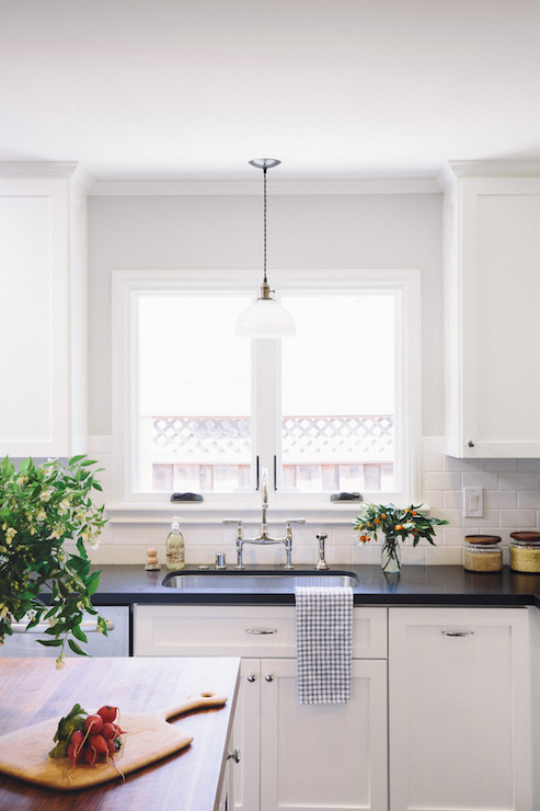 Light Over Kitchen Sinkl & Light Over Kitchen Sinkl - Transitional - Kitchen - Amanda Teal Design