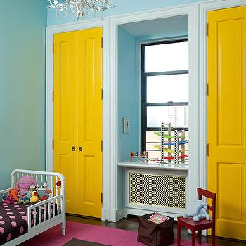 Blue Bi Fold Dressing Room Doors Design Ideas