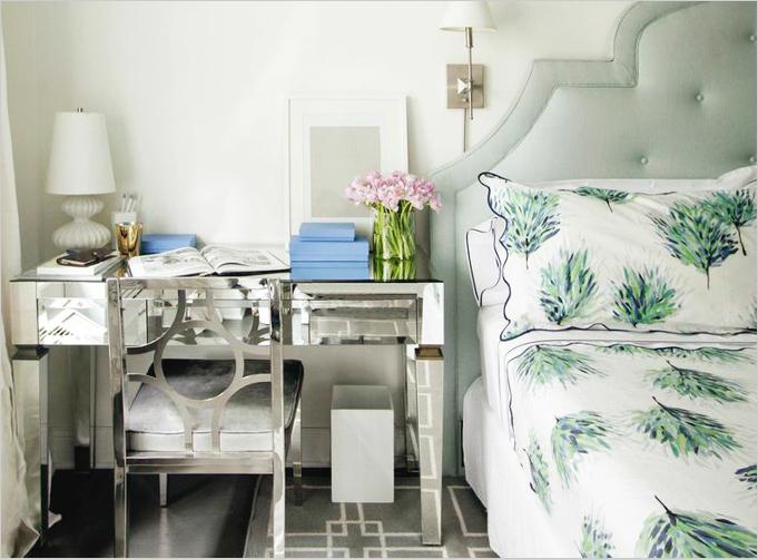 Desk as Nightstand Transitional Bedroom Kapito Muller Interior