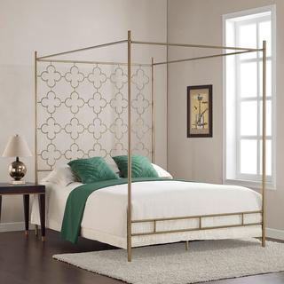 Retro Glitz Quatrefoil Queen Canopy Bed, Overstock.com