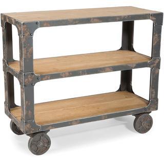 Natural Wood Rolling Shelf, Overstock.com