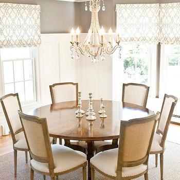 Dining Room with Board and Batten, Transitional, Dining Room, Benjamin Moore Chelsea Gray, Delicious Designs