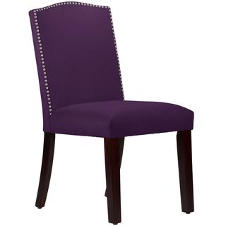Made to Order Purpole Nail Button Arched Dining Chair, Overstock.com