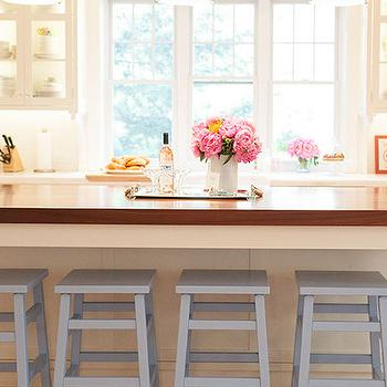 Island with Gray Stools, Transitional, Kitchen, Delicious Designs
