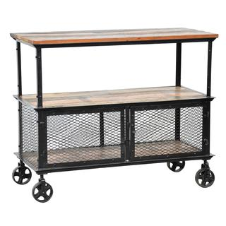 Go Cart Carbon Grey Rolling Tv Stand Coffee Table