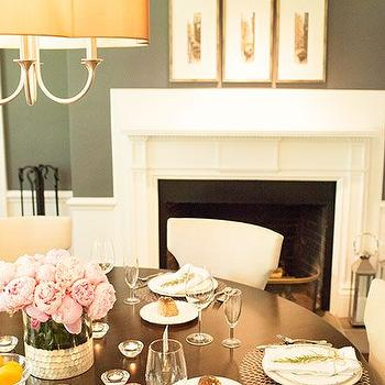 Dining Room Fireplace, Transitional, Dining Room, Delicious Designs